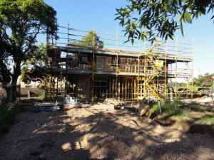 Sinnamon Farm, new houses (Lots 2 & 3) behind Glen Ross, March 2014 [CDH/CSHSoc]